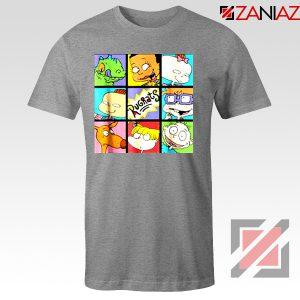 Rugrats Character Grid T-Shirt Televion Series T-Shirt Size S-3XL Grey