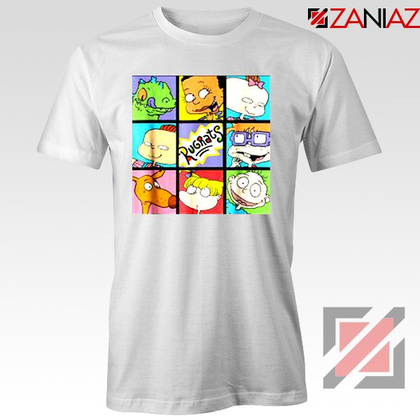 Rugrats Character Grid T-Shirt Televion Series T-Shirt Size S-3XL White