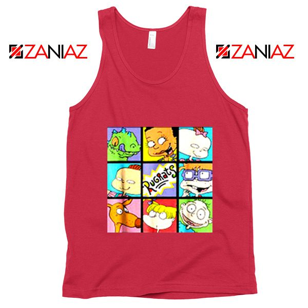 Rugrats Character Grid Tank Top Televion Series Tank Top Size S-3XL Red