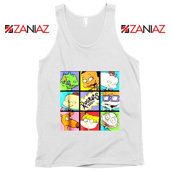 Rugrats Character Grid Tank Top Televion Series Tank Top Size S-3XL White