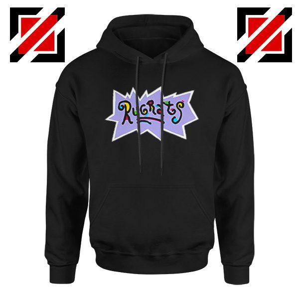 Rugrats Logo Hoodie Nickelodeon Cheap Hoodie Size S-2XL Black