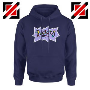 Rugrats Logo Hoodie Nickelodeon Cheap Hoodie Size S-2XL Navy