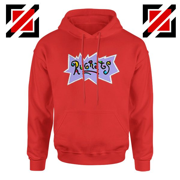 Rugrats Logo Hoodie Nickelodeon Cheap Hoodie Size S-2XL Red