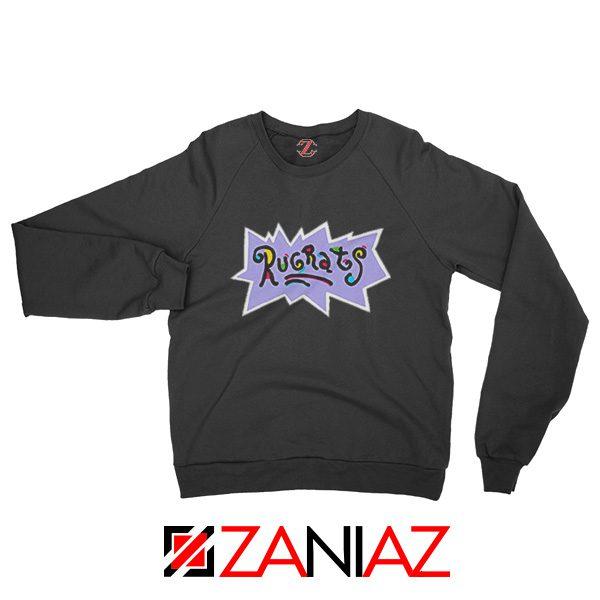 Rugrats Logo Sweatshirt Nickelodeon Cheap Sweatshirt Size S-2XL Black