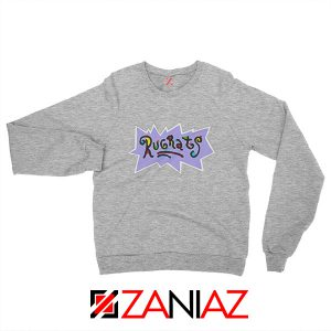 Rugrats Logo Sweatshirt Nickelodeon Cheap Sweatshirt Size S-2XL Grey