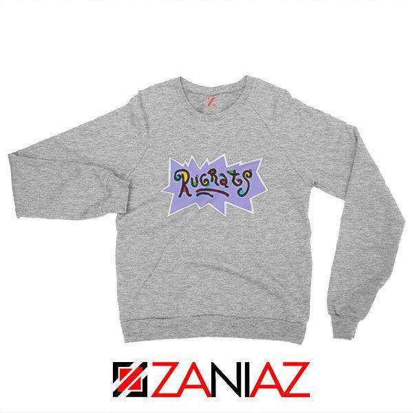 Rugrats Logo Sweatshirt Nickelodeon Cheap Sweatshirt Size S-2XL Grey