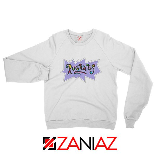 Rugrats Logo Sweatshirt Nickelodeon Cheap Sweatshirt Size S-2XL White