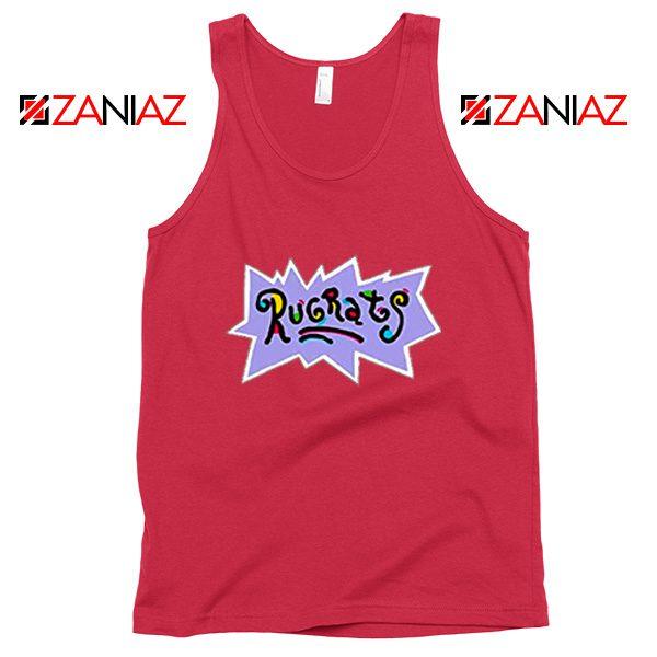 Rugrats Logo Tank Top Nickelodeon Cheap Tank Top Size S-3XL Red