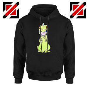 Rugrats Reptar Hoodie Nickelodeon Reptar Cartoon Hoodie Size S-2XL Black