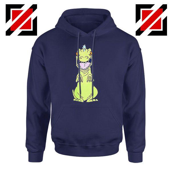 Rugrats Reptar Hoodie Nickelodeon Reptar Cartoon Hoodie Size S-2XL Navy