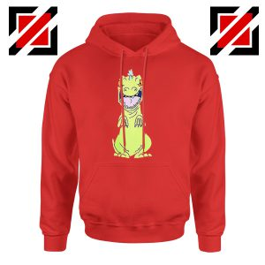 Rugrats Reptar Hoodie Nickelodeon Reptar Cartoon Hoodie Size S-2XL Red