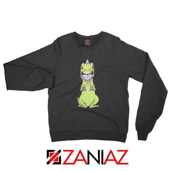 Rugrats Reptar Sweatshirt Nickelodeon Reptar Cartoon Sweatshirt Black