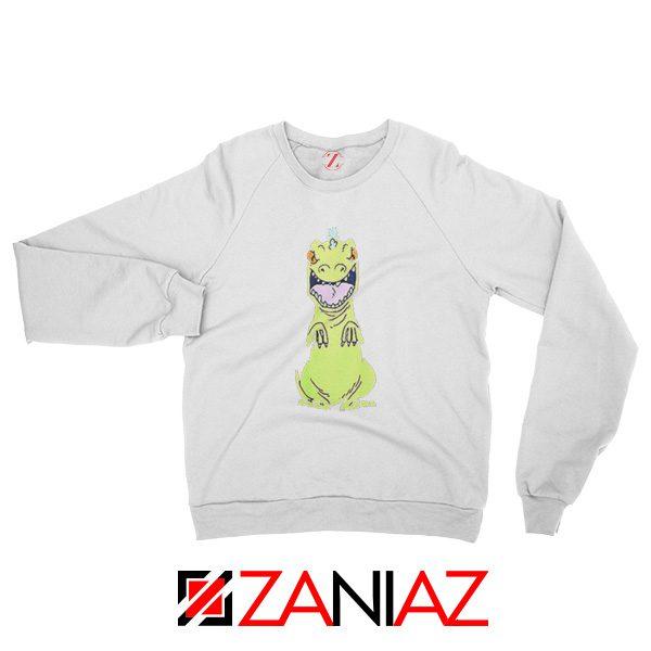 Rugrats Reptar Sweatshirt Nickelodeon Reptar Cartoon Sweatshirt White