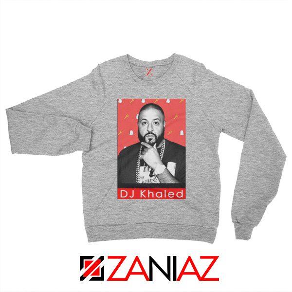 Songwriter DJ Khaled Sweatshirt Gift Music Sweatshirt Size S-2XL Sport Grey