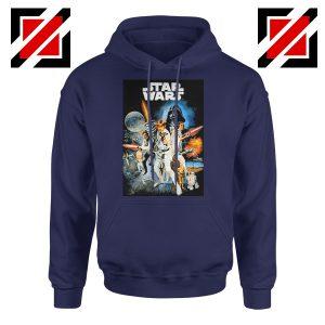 Star Wars A New Hope Hoodie Star Wars Movie Hoodie Size S-2XL Navy