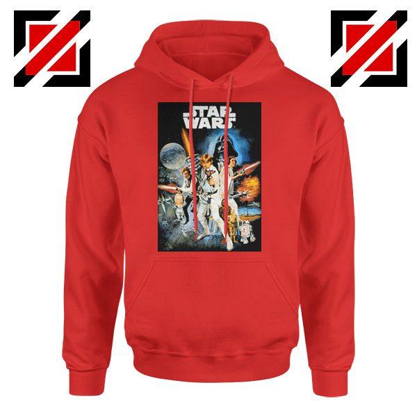 Star Wars A New Hope Hoodie Star Wars Movie Hoodie Size S-2XL Red
