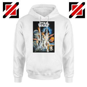Star Wars A New Hope Hoodie Star Wars Movie Hoodie Size S-2XL White