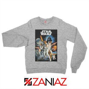 Star Wars A New Hope Sweatshirt Star Wars Movie Sweatshirt Size S-2XL Grey