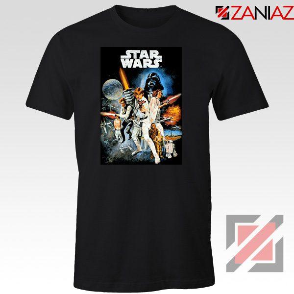 Star Wars A New Hope T-Shirt Star Wars Movie Tee Shirt Size S-3XL Black