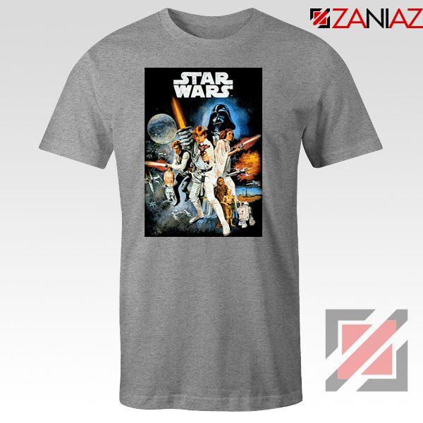 Star Wars A New Hope T-Shirt Star Wars Movie Tee Shirt Size S-3XL Grey