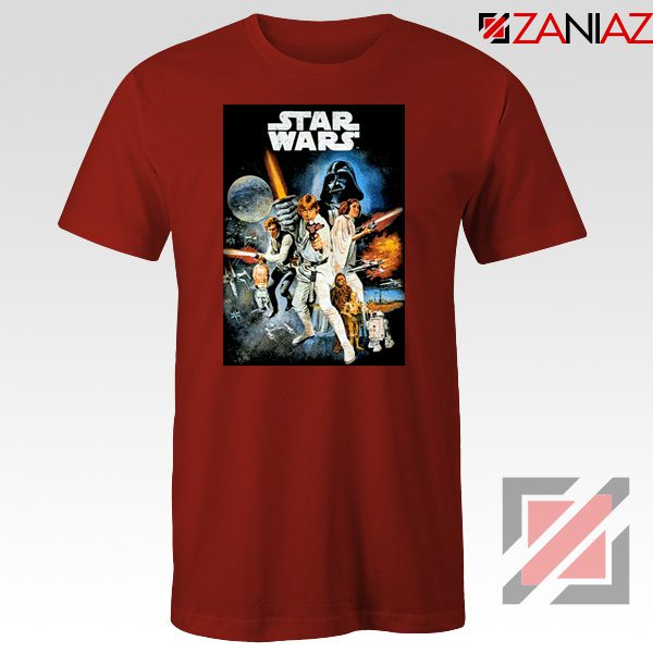 Star Wars A New Hope T-Shirt Star Wars Movie Tee Shirt Size S-3XL Red