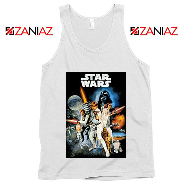 Star Wars A New Hope Tank Top Star Wars Movie Tank Top Size S-3XL White