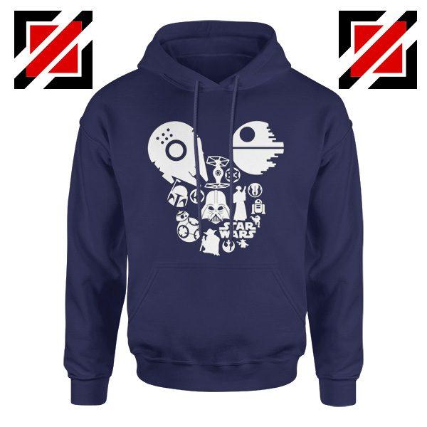 Star Wars Disney Mickey Head Hoodie Disney Family Hoodie Navy