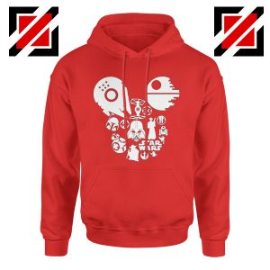 Star Wars Disney Mickey Head Hoodie Disney Family Hoodie Red