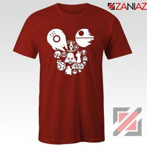 Star Wars Disney Mickey Head T-Shirts Disney Family Tshirt Red