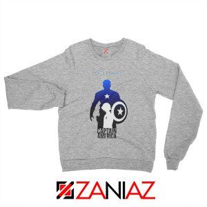 Steve Rogers as Captain America Sweatshirt Marvel Size S-2XL Sport Grey