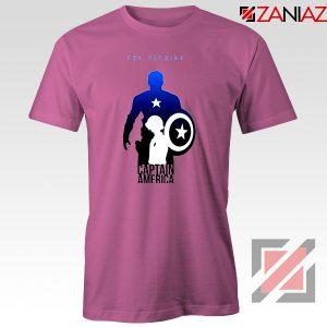 Steve Rogers as Captain America T-Shirt Marvel T-Shirt Size S-3XL Pink