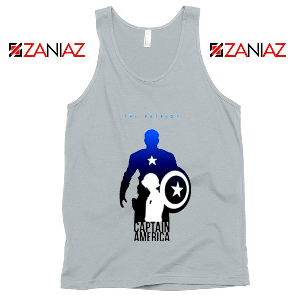 Steve Rogers as Captain America Tank Top Marvel Tank Top Size S-3XL Silver