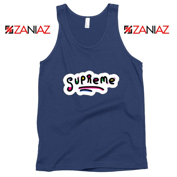 Sup Rugrats Tank Top Funny Supreme Tank Top Size S-3XL Navy