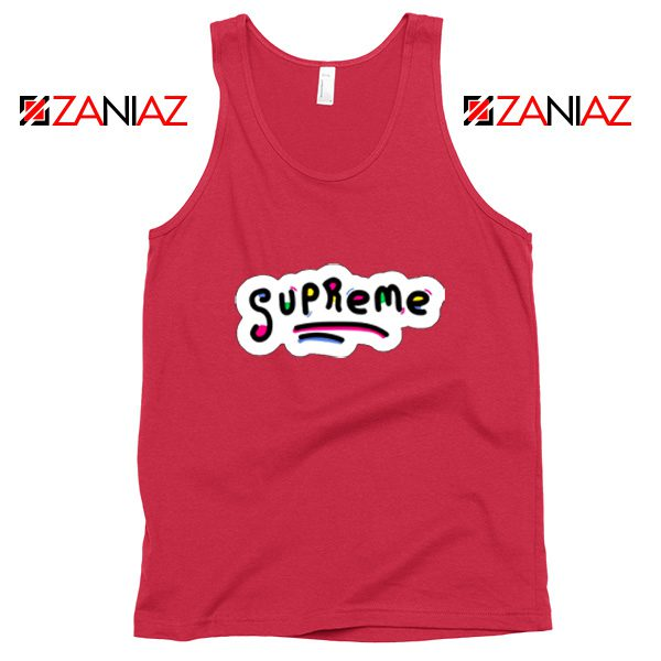 Sup Rugrats Tank Top Funny Supreme Tank Top Size S-3XL Red