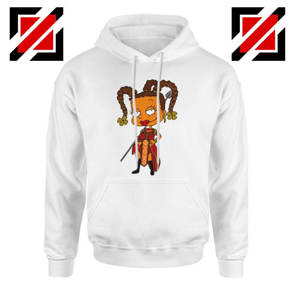 Susie Rugrats Wakanda Hoodie Funny Rugrats TV Series Size S-2XL White