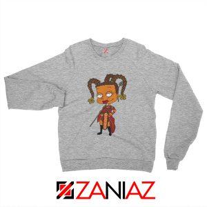Susie Rugrats Wakanda Sweatshirt Funny Rugrats TV Series Size S-2XL Sport Grey