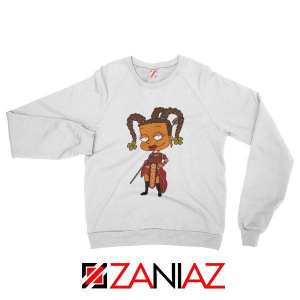 Susie Rugrats Wakanda Sweatshirt Funny Rugrats TV Series Size S-2XL White