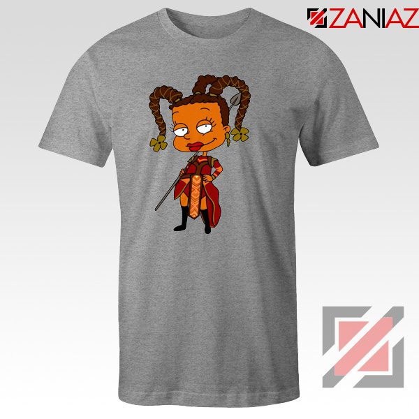 Susie Rugrats Wakanda T-shirt Funny Rugrats TV Series Size S-3XL Sport Grey