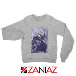 Thanos Best Sweatshirt Avengers Endgame Sweatshirt Size S-2XL Sport Grey