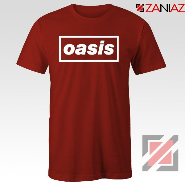 The Band Oasis T-Shirts Oasis UK Band Cheap Best T-Shirt Size S-3XL Red