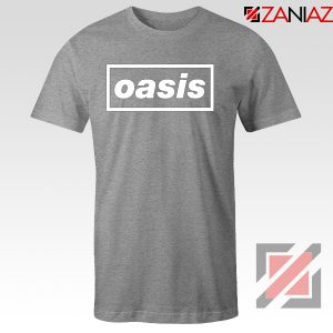 The Band Oasis T-Shirts Oasis UK Band Cheap Best T-Shirt Size S-3XL Sport Grey
