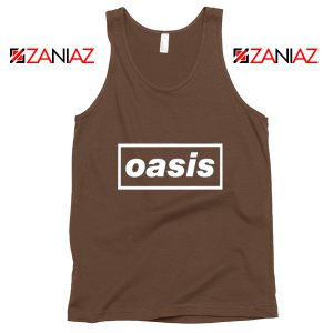 The Band Oasis Tank Top Oasis UK Band Best Tank Top Size S-3XL Brown