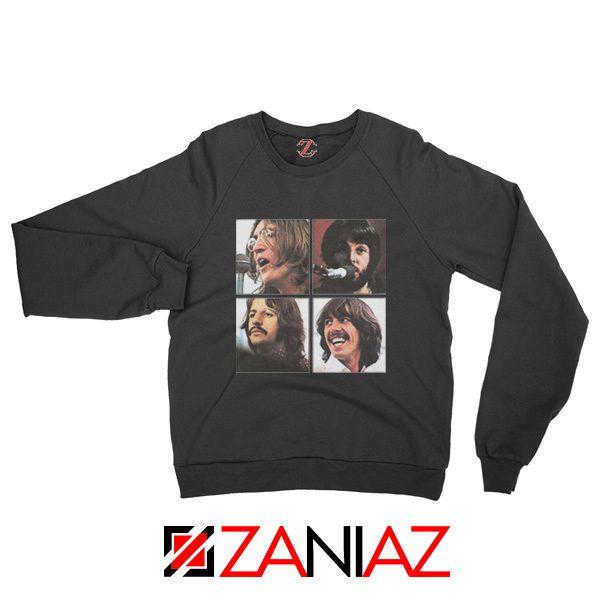 The Beatles Face Sweatshirt Rock Band Music Sweatshirt Size S-2XL Black