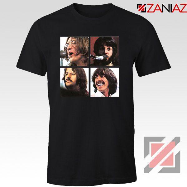 The Beatles Face T-Shirt Rock Band Music T-Shirt Size S-3XL Black