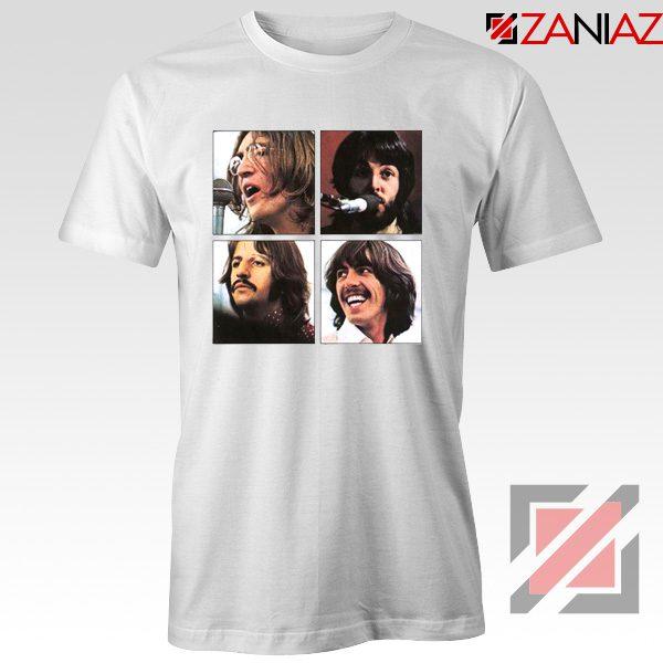 The Beatles Face T-Shirt Rock Band Music T-Shirt Size S-3XL White