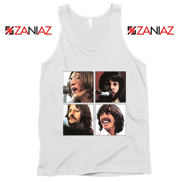 The Beatles Face Tank Top Rock Band Music Tank Top Size S-3XL White