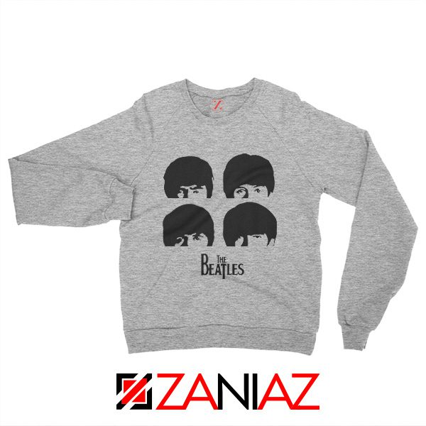The Beatles Gifts Sweatshirt The Beatles Sweatshirt Womens Size S-2XL Grey
