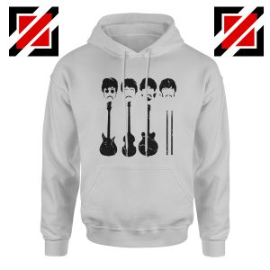 The Beatles Hoodie The Beatles Hoodie Mens Size S-2XL Sport Grey