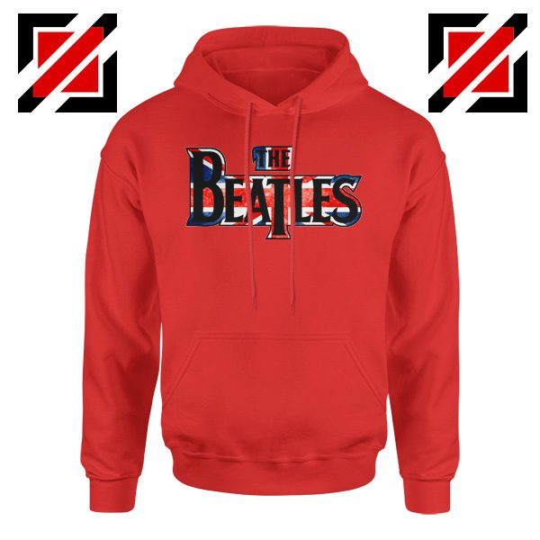 The Beatles Logo Hoodie The Beatles Rock Band Hoodie Size S-2XL Red