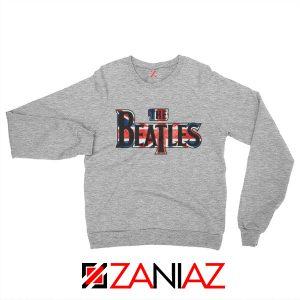 The Beatles Logo Sweatshirt The Beatles Rock Band Sweatshirt Grey